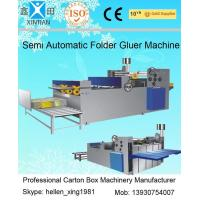 Easy Operation Semi Automatic Gluing Machine Carton Gluer For 260mm Paperboard for sale