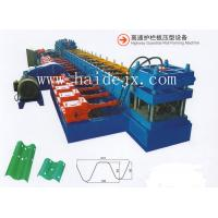 Hydraulic Anti Crash Barrier Highway Guardrail Roll Forming Machine with 18 rows of rollers and PLC control for sale
