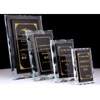 China Durable Crystal Glass Golf Trophies Cup Black Color Matching CE CCC Certificated for sale