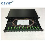 Cold Roll Steel Fiber Optic Patch Panel ODF 19 Inch Rack Mount Sliding Type