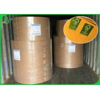 China Multifunctional Brown Kraft Paper Roll 300GSM For Making Clothing Tag for sale