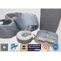 High Temperature Grey Silicone Fiberglass Removable Thermal Insulation Covers , Flange Thermal Covers for sale