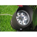 China IP 66 LED Landscape Spotlight 15 Watt 6 Nichia LED Chip Die Cast Solid Brass for sale
