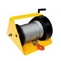 China GR2000 Single Drum Worm Gear Winch 1500 - 3000 Lb With Cable Weight 78kg for sale