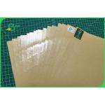 Waterproof Anti Oil Single PE Brown Kraft Paper 30 To 350gsm FDA FSC ISO SGS for sale