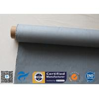 China Grey Silicone Coated Glass Fabric 1500gsm Two Side Coated Glass Fiber Cloth for sale
