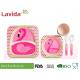 Free Heavy Metals Food Grade Bamboo Childrens Dinner Set , BPA Free 5 Pieces Bamboo Fibre Kids Set for sale