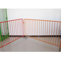 China 360 Degree Welding Temporary Crowd Control Barrier Made By Round Pipe For Safety for sale