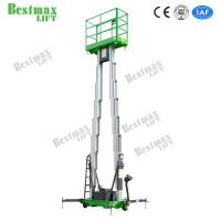 Double Mast Mobile Construction Aerial Work Platform 10 Meters 200Kg Truck-Mounted Type