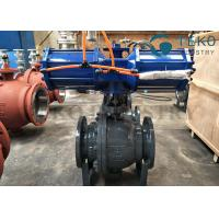 High pressure DBB DIB structure Flanged End 3PC body Trunnion Ball Valve With Gear Operation for sale