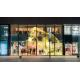 China Transparent Glass Wall Led Display 25mm Pixels Indoor High Brightness Full Color for sale