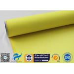 China Yellow High Temperature Lightweight Fiberglass Cloth For Waterproofing 530gsm 127cm for sale