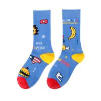 China Unisex Unique Dress Socks / Awesome Cotton Girls Socks With Jacquard / Embroidery Pattern for sale