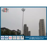 Hot Dip Galvanized Steel Tapered Electric Light Pole RAL Paint Q420 25m Height for sale