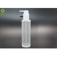 Frosted Glass Hair Oil Body Essential Oil Pump Bottle 100ml 120ml for sale