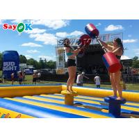 Double Stitching Kids Inflatable Fighting Arena Inflatable Gladiator Jousting Game for sale
