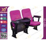 China Injection Polyurethane Foam Low Back Auditorium Conference Hall Chair With Soft Seat Back for sale
