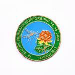 Flowers Logo Soft Enamel Lapel Pins , Size Custom Die Struck Pins for sale