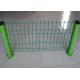 China Professional Green Metal Fencing / Weld Mesh Fence Panels ISO SGS Listed for sale