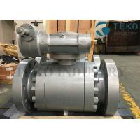 Forged Steel Flange End Worm Gear Operated Trunnion Ball Valve For Oil / Gas ANSI API6D for sale