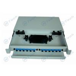 ODF SC Simplex Fiber Distribution Panel , 12 Cores 12 Port Patch Panel Rack Mount for sale