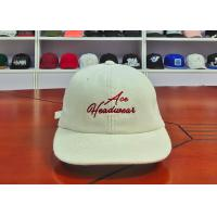 China Customized Flat Embroidery Logo Cotton Baseball Caps Standard 58-60cm For Adult supplier