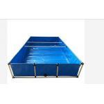 Rectangular 2500L Moveable PVC Tarpaulin Fish Pond for sale