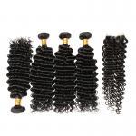 100% Brazilian Virgin Hair Top Quality Deep Curly Human Hair Bundles for sale