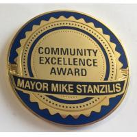 1.75 Inch 2  Inches Metal Challenge Coins , Soft Enamel / Hard Enamel Coins for sale