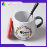 Ceramic beer mug mugs with lid coffee cup Hand-painted ceramic cups for sale