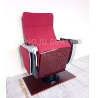 China Luxurious Auditorium Theater  Chairs With Folded Tablet / Lecture Hall Seating for sale