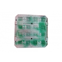 16 Cavity S136 Plastic Injection Tooling For Square Shell for sale
