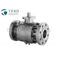 Flange Type API 6D Fire Proof Stainless Steel Trunnion Isolation Ball Valve for sale