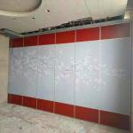 Customized Color Operable Partition Walls / Wooden Acoustic Movable Wall For Banquet Hall for sale