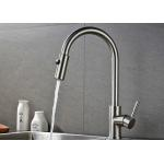 ROVATE Nickel Brushed Kitchen Basin Faucet 1.0MPA Water Pressure CE Compliant for sale