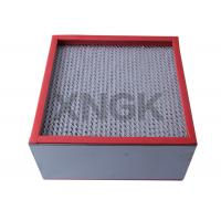 China Galvanized Steel Frame High Temperature Hepa Filters Medium Efficiency for sale