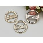 Round Fashion Resistant Ladies Shoe Buckles , Shoe Buckle Replacement