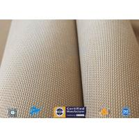 China Brown 31oz Silica Fabric 800℃ Working Temperature 0.05 Thick Fireproof Curtain manufacturer