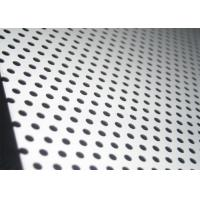 China 316 Round Hole 0.5m Stainless Steel Perforated Plate for sale