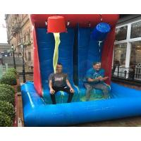 Giant Inflatable Gunge Roulette Tank Commercial Pvc Smile Tank Game
