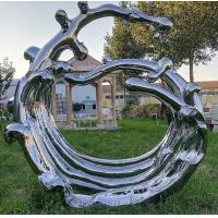Mirror Surface Modern Outdoor Metal Sculpture Stainless Steel For Public Decoration for sale
