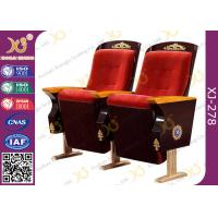 China Vintage Design Church Hall Fixed Legs Chair With Handmade Religion Carving Pattern for sale