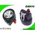 Black Color Coal Mining Cap Lights IP67 Waterproof 2.8Ah Rechargeable Li - Ion Battery for sale