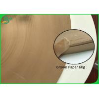 China Brown Paper 60G Straw Coloured Paper Roll 15MM 27MM Kraft Paper For Paper Straw for sale