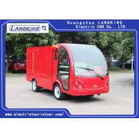 China 3.5 Meters Electric Fire Engine Car / Electric Freight Car 2 Seats 70km Range Dry Battery With Toplight for sale