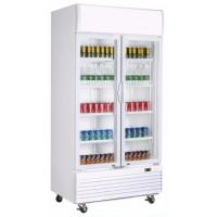 China 2 Doors Frost Free Display Showcase Cooler With Double Layer Tempered for sale