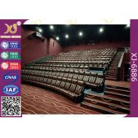 China Vip Home Theatre Seating Chairs Genuine Leather Fixed Movie Seats for sale