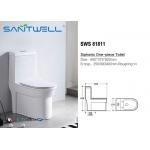 Portable Single Piece Toilet Siphonic Ceramic Water Fittings WC Seat , Water Closet Toilet for sale