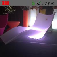 Lightweight Swimming Pool Furniture , LED Outdoor Chaise Lounge For Leisure for sale