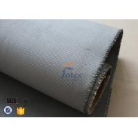 China Grey Silicone Coated Fiberglass Fabric 47OZ 1.3MM Electrical Insulating for sale